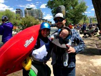 Jackson Kayak: A 2 month old baby was not an excuse to not compete at the Reno River Festival