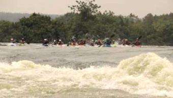 Kayak Session: UNLEASHEDxUganda on the Hair of the Dog rapid of White Nile river