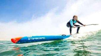SUP Magazine: Jeff Clark Flying Across Waves on a SUP Foil