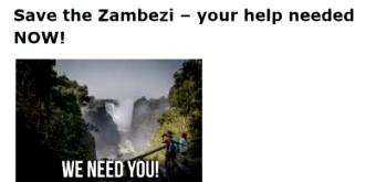 International Rafting Federation: Save the Zambezi – your help needed NOW!
