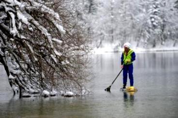 SUPracer: Manca Notar's Beautiful Winter Wonderland