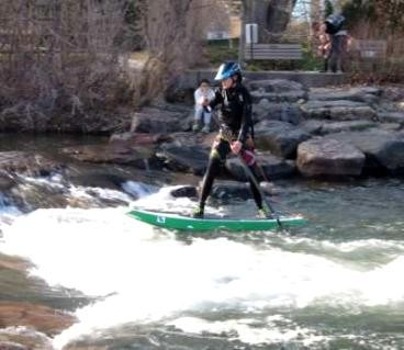 SUP for the Soul: Clear Creek Library Hole @ 70CFS