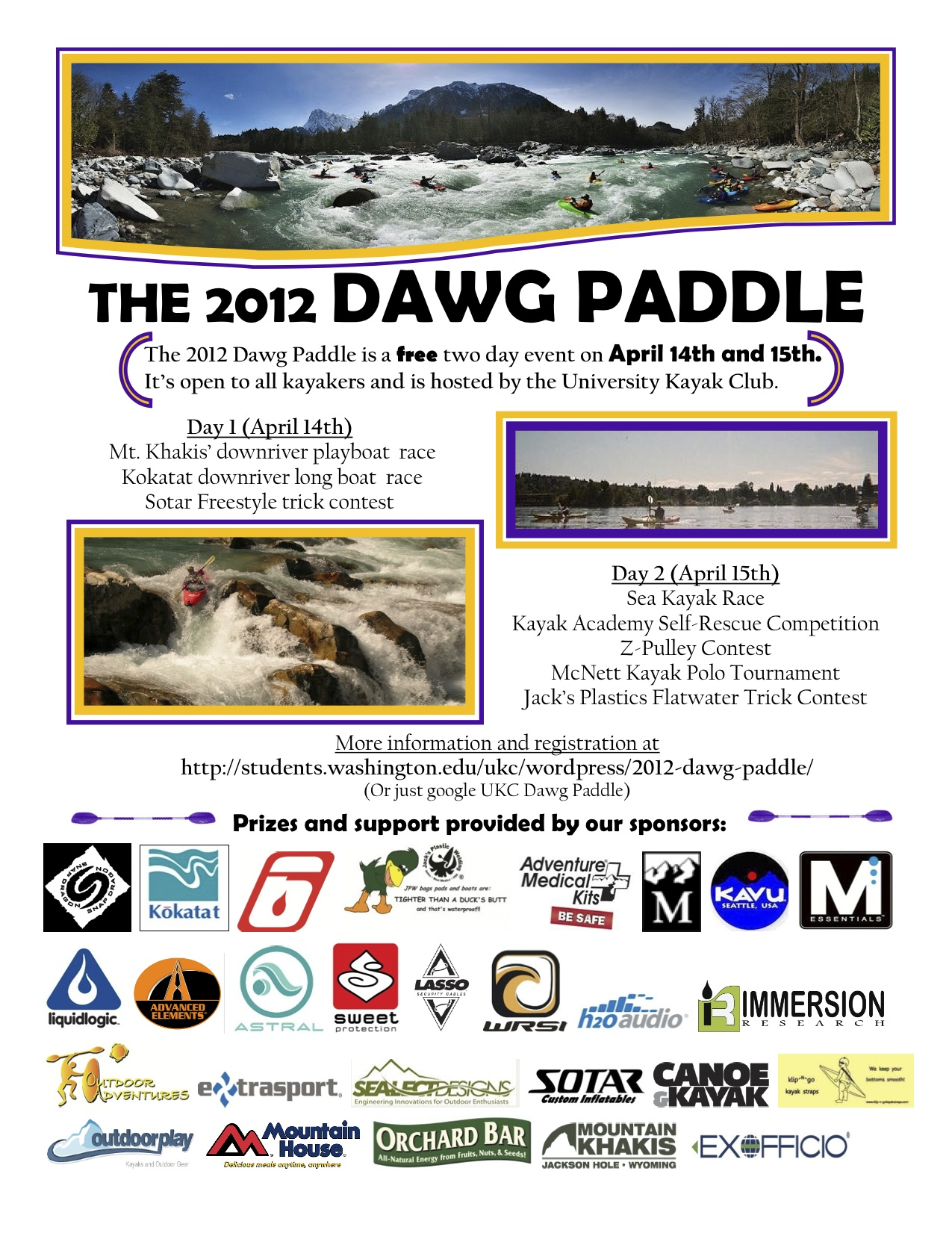 The Dawg Paddle - UW Kayak Event