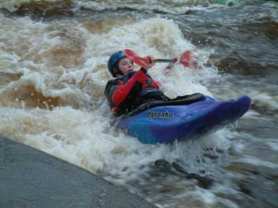Kayak photo - Tees Barrage
