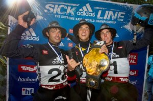 Sam Sutton wins his third adidas Sickline Extreme Kayak World Championship title