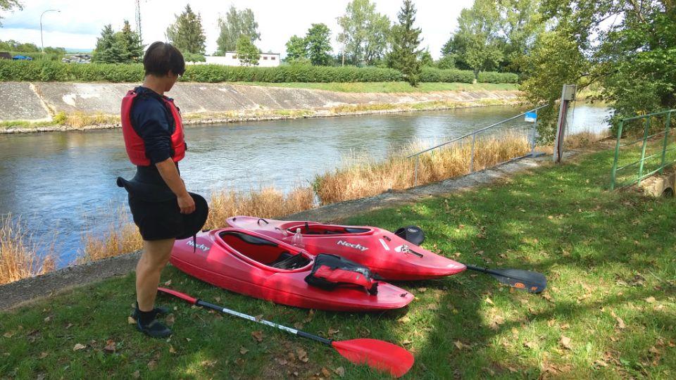 Nechranice Damm Ohře / Eger.<br />http://www.horydoly.cz/vodaci/kick-kayak-na-ohri-u-zatce.html
