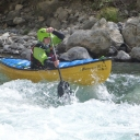Whitewater canoeing durance area July 2012