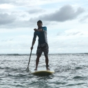 Paddling at Serangan Island