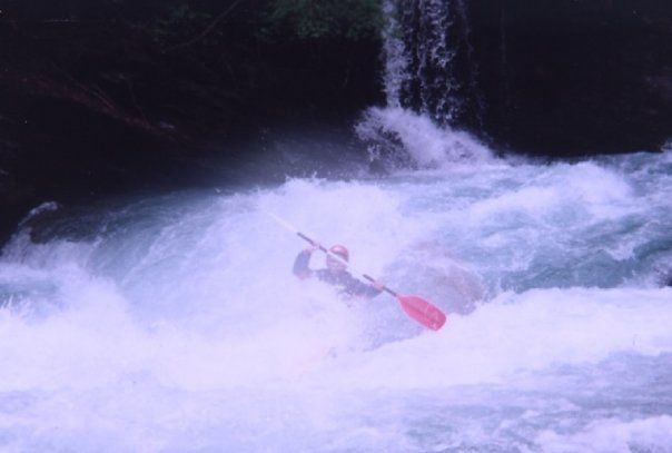 Switzerland - Inn River - Near Scuol - Kayak Mountain 300 - 1993