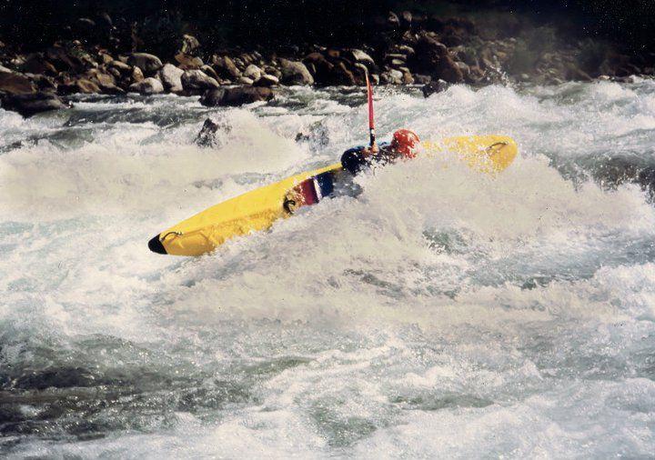 Italy - Sesia River - Trancia Rapid - Kayak Gattino - 1991