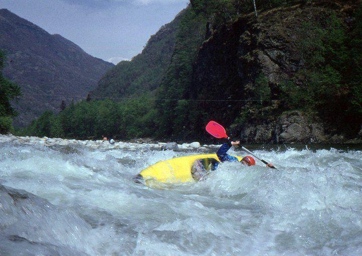 Italy - Sesia River - Ubriaco Rapid - 1991 - Kayak Gattino