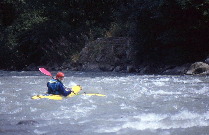 Italy - Noce River - Piano - Kayak Mountain Bat - 1992