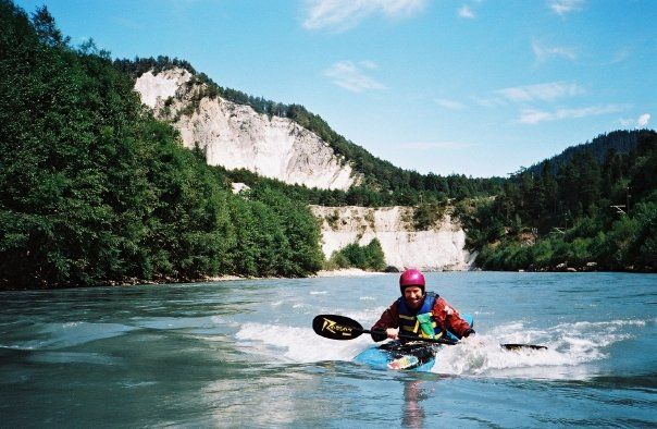 Switzerland - Vorderrhein - Kayak Micro Bat 240 - 2001.