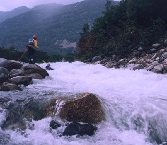 Sesia River - Balmuccia Rapid - Kayak Gattino - 1992