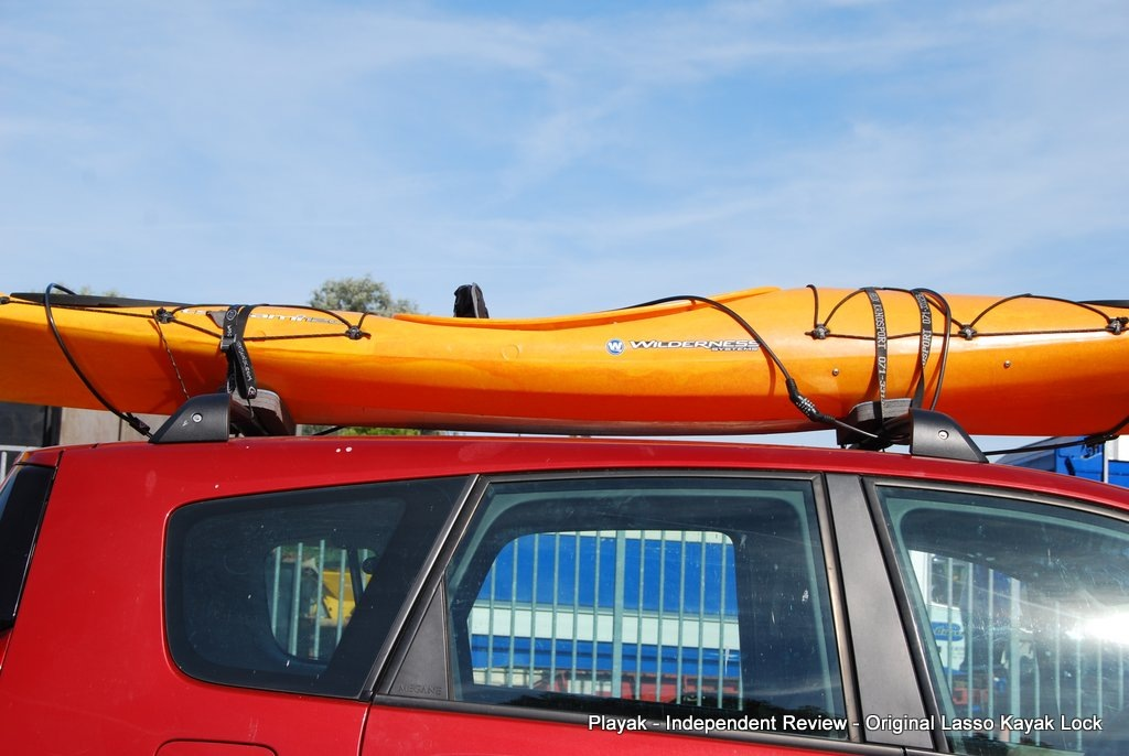 The Lasso Kayak Lock Is Primarily Designed To Lock A Kayak To A Caru0027s Roof  Rack, But You Can Lock The Kayak To Any Other Fixed Immovable Object (like  A Tree ...