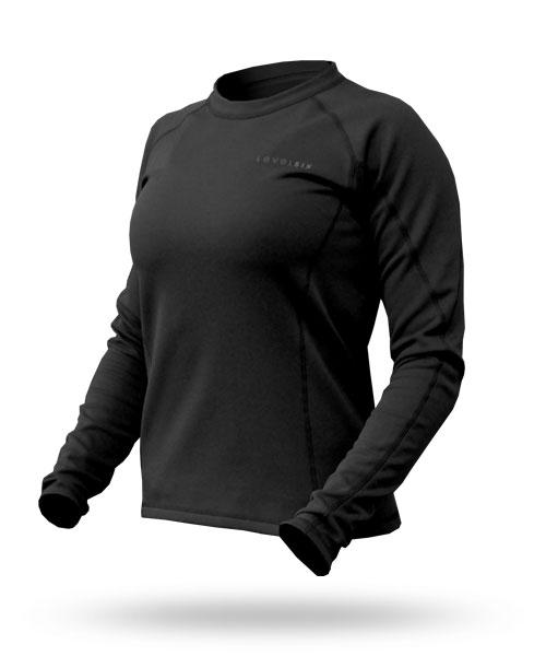Hot Fuzz: Women's Fleece Top - 5975_hotfuzztopblack_1273086759