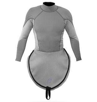 K1 Ultra Stretch Neoprene S/S Race-Lite Combi Top attached to K1 - 4794_k1lsneogrey_1291805108