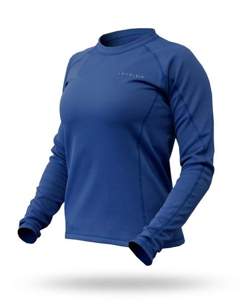 Hot Fuzz: Women's Fleece Top - 5975_hotfuzztopblue_1273086759