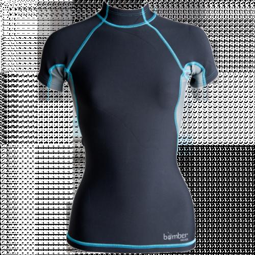 Women's Hydrogen Neoprene Short Sleeve Top - _womenhydrogen-1421658716