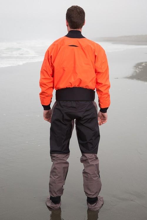 Hydrus 3L Meridian Dry Suit with Relief Zipper & Socks - Men - _hmer-hydrus-meridian-tangerine-2-2-1363678051
