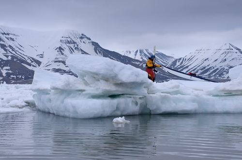 Kokatat Supplies Team Attempting to Complete Historic Arctic Expedition - _on-a-floe-1335464461
