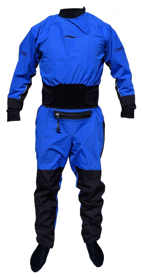 Lomo Renegade II Drysuit - Kayaking Drysuit - Blue - _new-1with-socks2-1367586077