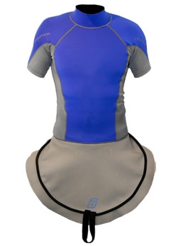 C1 Ultra Stretch Neoprene S/S Race-Lite Combi Top attached to C1 - 4796_c1ssneoblue_1291788401