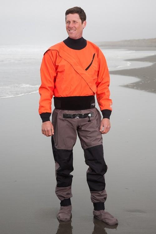 Hydrus 3L Meridian Dry Suit with Relief Zipper & Socks - Men - _hmer-hydrus-meridian-tangerine-2-1363678051