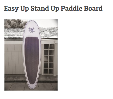 Easy Up Stand Up Paddle Board 10'0""