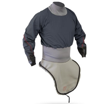 K1 Nylon L/S Race-Lite Combi Top attached to K1 Deck - 4797_k1lsnyloncharcoal_1291803797