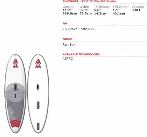 "WindSUP inflatable 11'2"" x 32"" - _infla11-32a-1383814002"