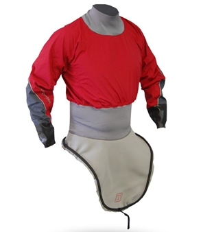 K1 Nylon L/S Race-Lite Combi Top attached to K1 Deck - 4797_k1lsnylonred_1291803797