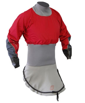 C1 Nylon L/S Race-Lite Combi Top attached to C1 Deck - 4786_c1lsnylonred_1291786449