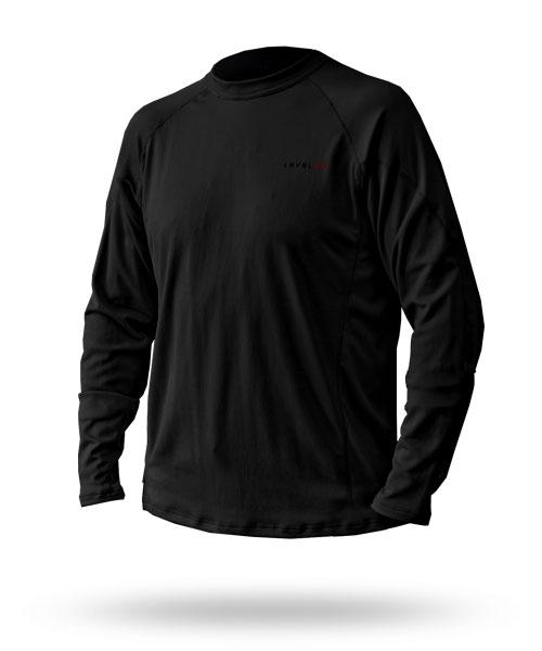 Hot Fuzz: Men's Fleece Top - 5974_hotfuzztopblack1_1273085684