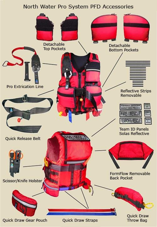 Pro System Detachable Pockets Rescue PFD - 6147_3_1273663513