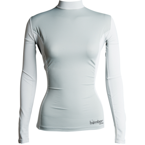 Women's Solar 50 Rash Guard - Long Sleeve - _womensolarlong50lgrey-1421654155