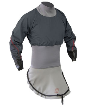 C1 Nylon L/S Race-Lite Combi Top attached to C1 Deck - 4786_GREY_1291786449