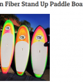 """Carbon Fiber Stand Up Paddle Board 10'0"""""""