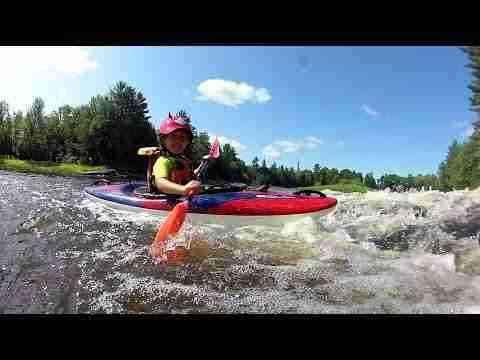 Teaching kids to kayak