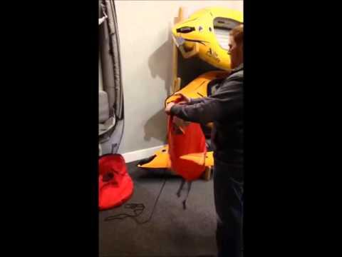 Folding the RapidUp Kayak Sail 2015