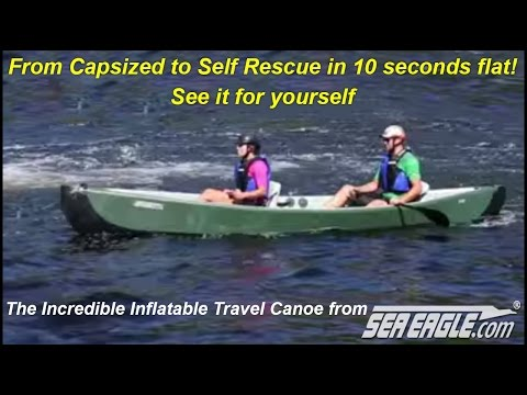 How Easy It Is To Self Rescue In The Sea Eagle Inflatable Travel Canoe