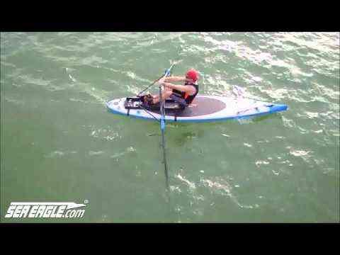 Adventurer Grant Rawlinson training on a Sea Eagle NeedleNose iSUP