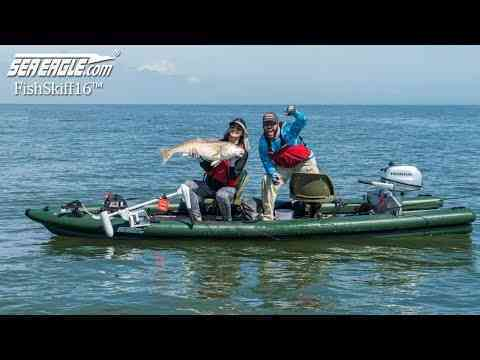 Sea Eagle FishSkiff16™ - Big Redfish & Black Drum Fishing In Louisiana!