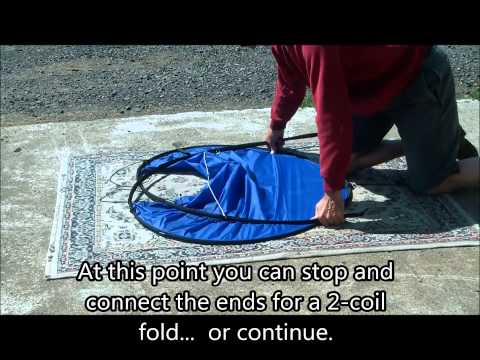 WindPaddle Sun Shade folding methods - Two of them!