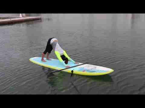 Beginning SUP Yoga with Boardworks ambassador Jessica Cichra