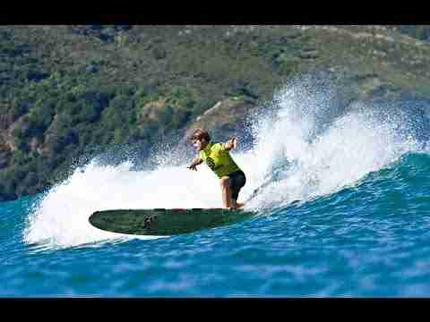 The Ultimate Waterman Longboard and Underwater Challenge Warm Up with Zane Kekoa Schweitzer, Laird H