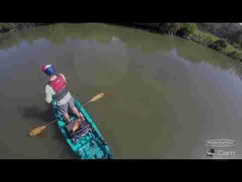 GoPro SHORT: Kayak fishing stealth as redfish swims to me