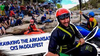 Kayaking the Arkansas at CKS PaddleFest: Wild and Free Tour Vlog series