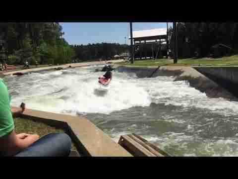 SUP Whitewater Entry Move - US National Whitewater Center - Mike Tavares
