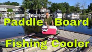 Simple Cooler Setup for Paddle Board Fishing - SUP Fishing Cooler Accessories